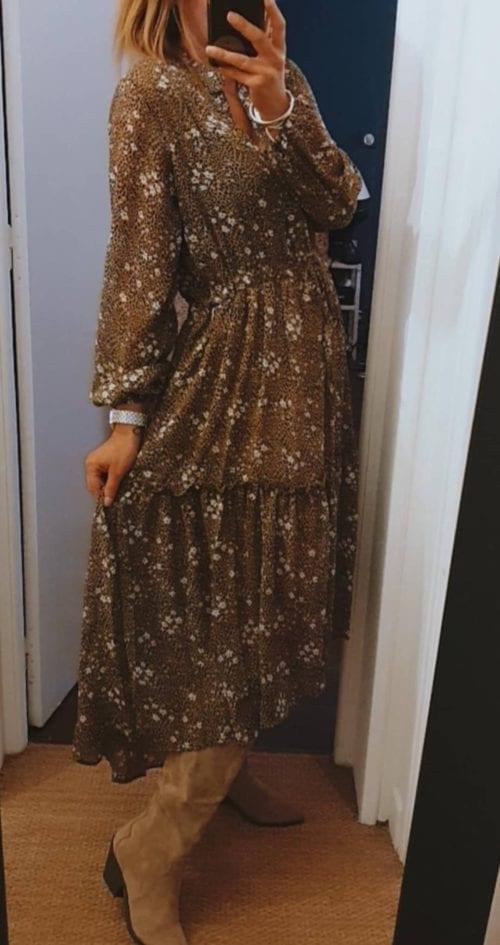 Robe longue Asymétrique imprimée