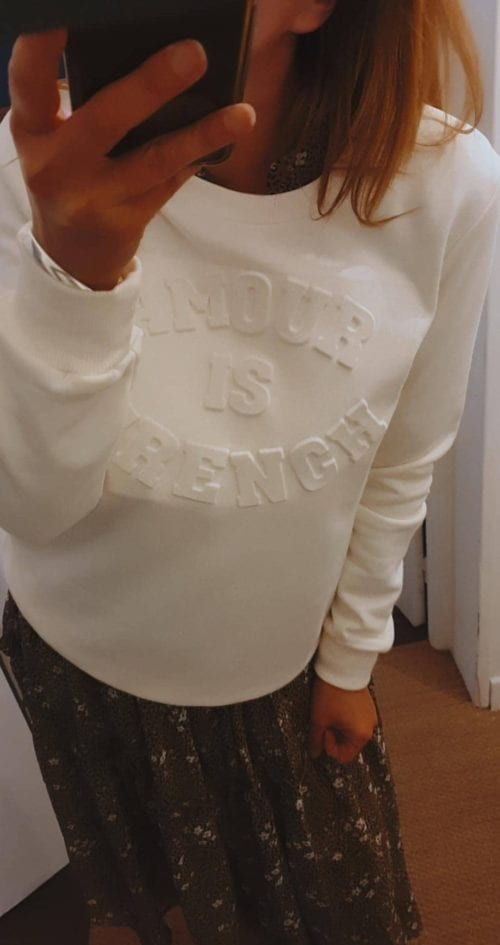 Sweat message Amourisfrench offwhite