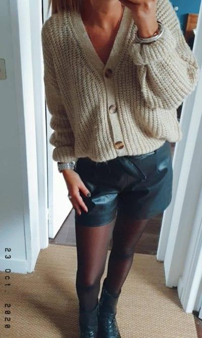 Gilet pull doré