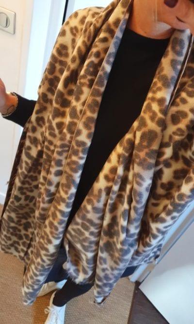 Echarpe imprimé léopard